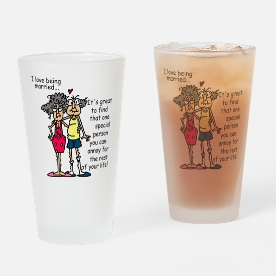 Marriage Humor Drinking Glass