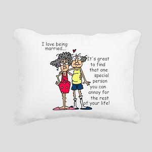 Marriage Humor Rectangular Canvas Pillow