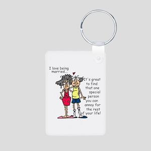 Marriage Humor Aluminum Photo Keychain