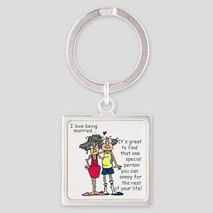 Marriage Humor Square Keychain