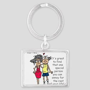 Marriage Humor Landscape Keychain