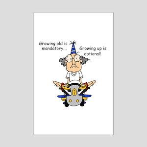 Getting Older Humor Mini Poster Print