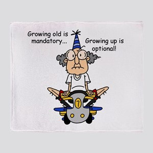 Getting Older Humor Throw Blanket