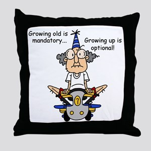 Getting Older Humor Throw Pillow