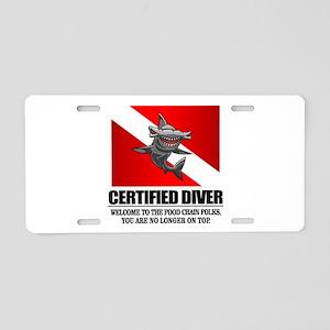 Certified Diver (Food Chain) Aluminum License Plat