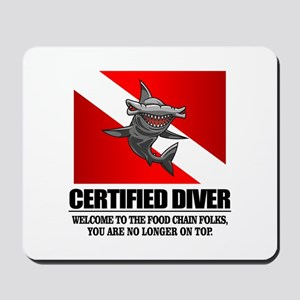 Certified Diver (Food Chain) Mousepad