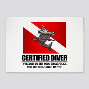Certified Diver (Food Chain) 5'x7'Area Rug