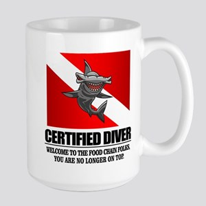 Certified Diver (Food Chain) Mugs