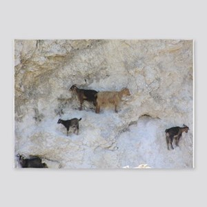 mountain goats 5'x7'Area Rug