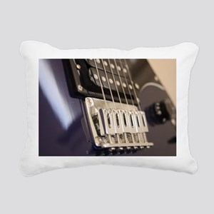 Blue Guitar Rectangular Canvas Pillow