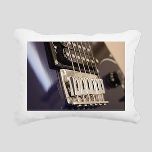 Blue Guitar Rectangular Canvas Pillow