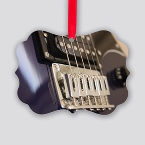 Blue Guitar Picture Ornament