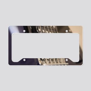 Blue Guitar License Plate Holder