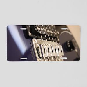 Blue Guitar Aluminum License Plate