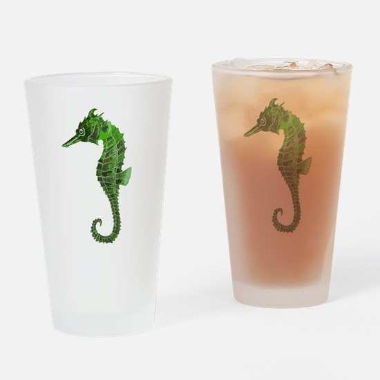 Green seahorse Drinking Glass