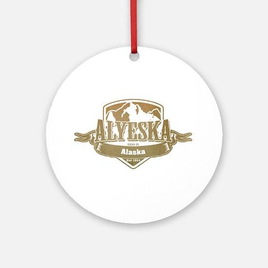 Alyeska Alaska Ski Resort 4 Ornament (Round)