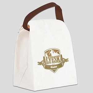 Alyeska Alaska Ski Resort 4 Canvas Lunch Bag