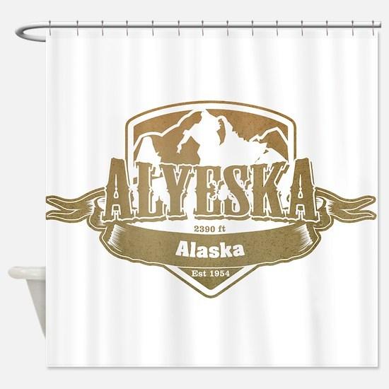 Alyeska Alaska Ski Resort 4 Shower Curtain