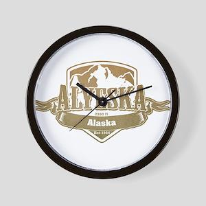 Alyeska Alaska Ski Resort 4 Wall Clock