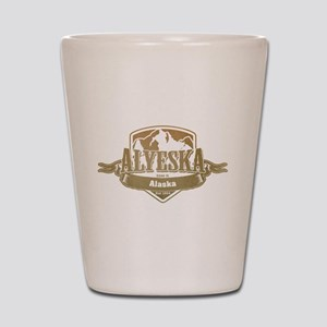 Alyeska Alaska Ski Resort 4 Shot Glass