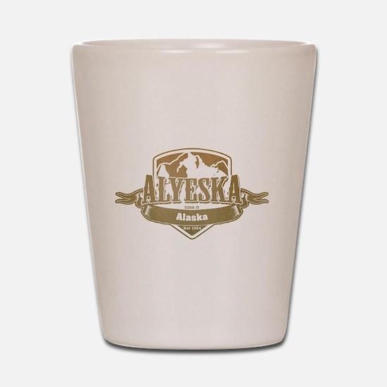 Alyeska Alaska Ski Resort 4 Shot Glass