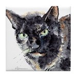 Tortie cat Tile Coaster