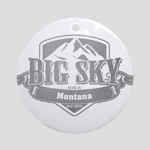 Big Sky Montana Ski Resort 5 Ornament (Round)