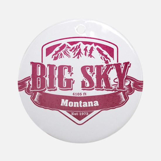Big Sky Montana Ski Resort 2 Ornament (Round)