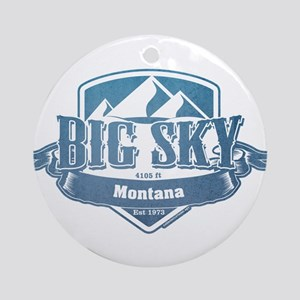 Big Sky Montana Ski Resort 1 Ornament (Round)