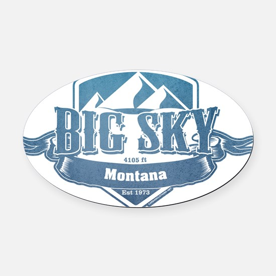 Big Sky Montana Ski Resort 1 Oval Car Magnet