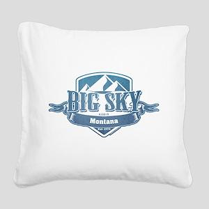 Big Sky Montana Ski Resort 1 Square Canvas Pillow