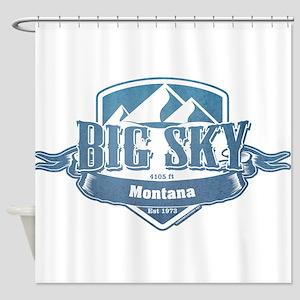 Big Sky Montana Ski Resort 1 Shower Curtain