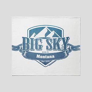 Big Sky Montana Ski Resort 1 Throw Blanket