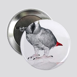 "African Grey Parrot 2.25"" Button"