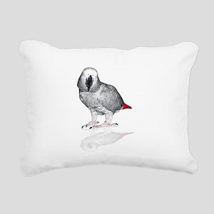 African Grey Parrot Rectangular Canvas Pillow