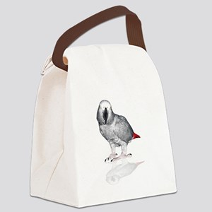 African Grey Parrot Canvas Lunch Bag