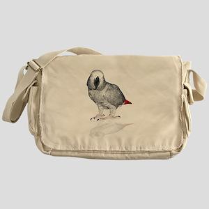 African Grey Parrot Messenger Bag
