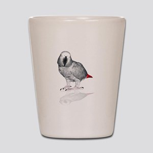 African Grey Parrot Shot Glass
