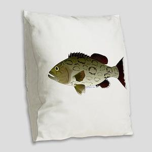 Gag Grouper Burlap Throw Pillow