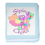 Siping China Map baby blanket
