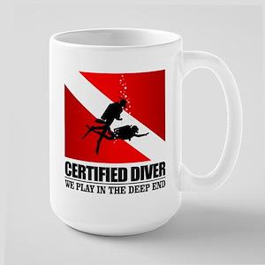 Certified Diver (Deep End) Mugs