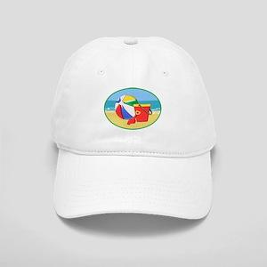 Beach Ball Pail and Shovel Baseball Cap