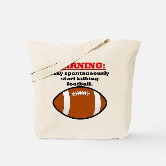 Spontaneous Football Talk Tote Bag