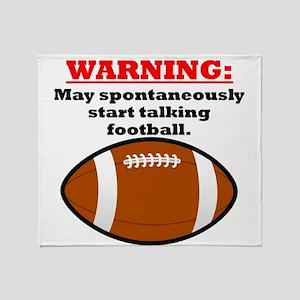 Spontaneous Football Talk Throw Blanket