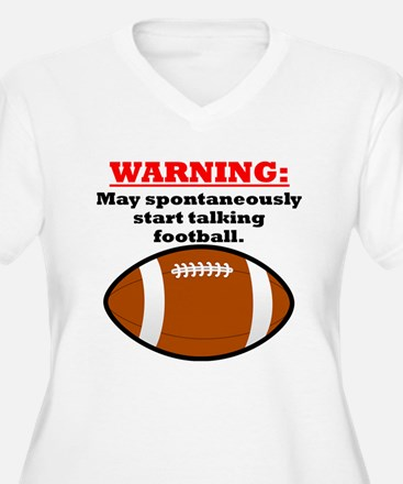Spontaneous Football Talk Plus Size T-Shirt