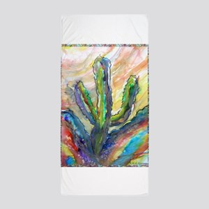 Cactus, southwest art! Beach Towel