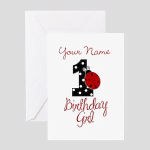 1 Ladybug Birthday Girl