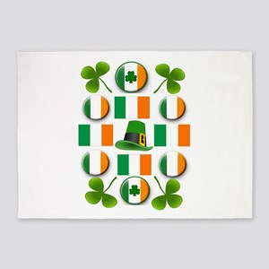 IRISH SHAMROCKS 5'x7'Area Rug