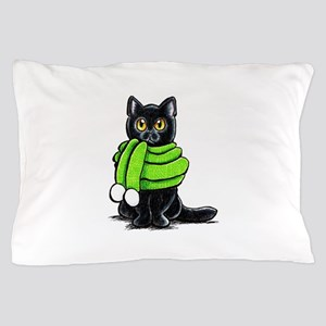 Black Cat Scarf Pillow Case