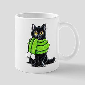 Black Cat Scarf Mug